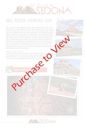 Bell Rock Vortex Map - Sedona Vortexes Map - AGuidetoSedona